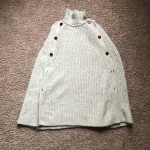 J. Crew convertible sweater cape